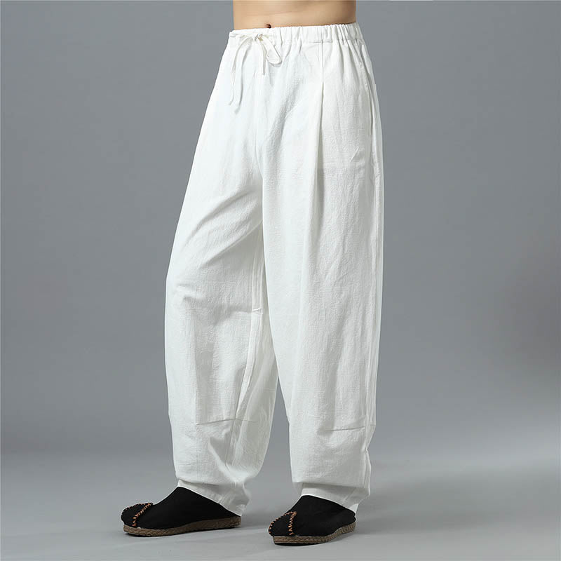 Men's Breathable Casual Cotton Loose Linen Pants