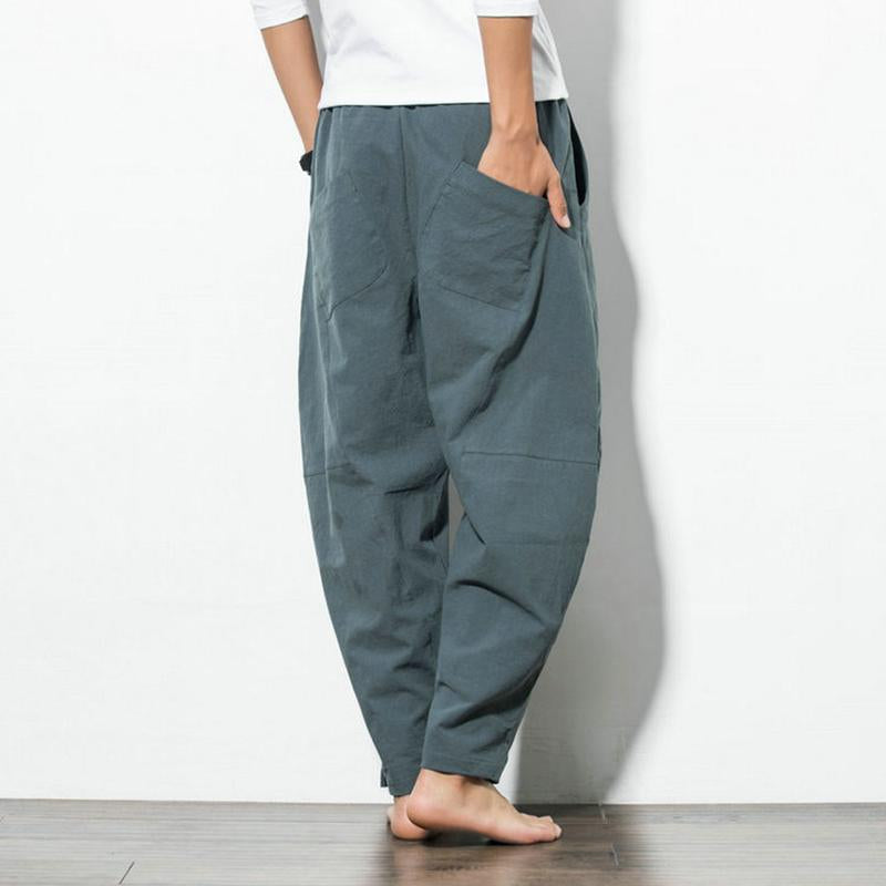Men's Casual Loose Wide Leg Harem Pants