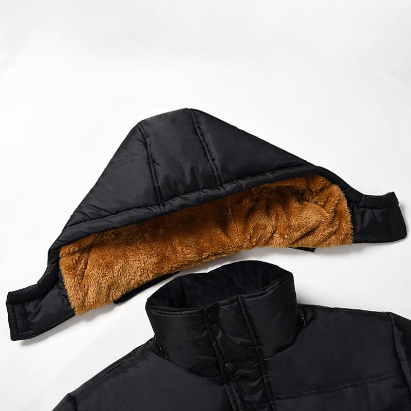 Men's Jacket With Velvet Thick Warm Hooded Coat