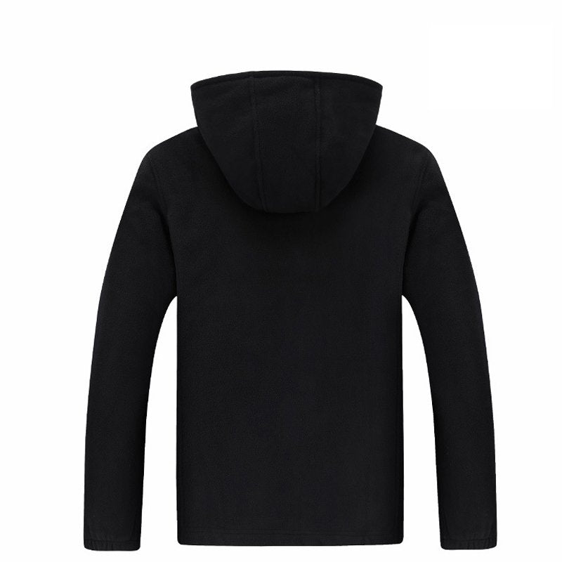 Men's Plus Velvet Padded Warm Fleece Jacket Coat