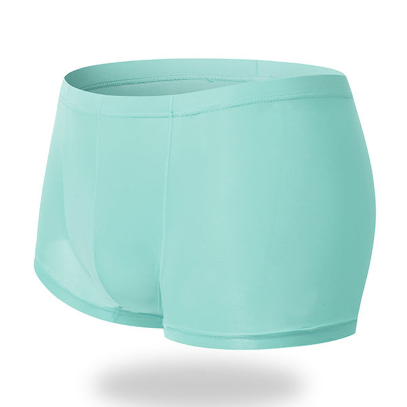 Sexy Thin Breathable Ice Silk Boxers