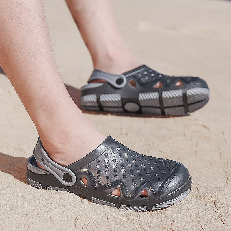 Beach Sandals Hole Breathable Slippers Casual Shoes Men Slippers