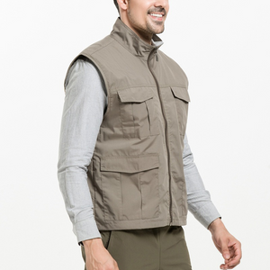 Plus Size Men's Multi Pocket Outdoor Quick-drying Breathable Vest
