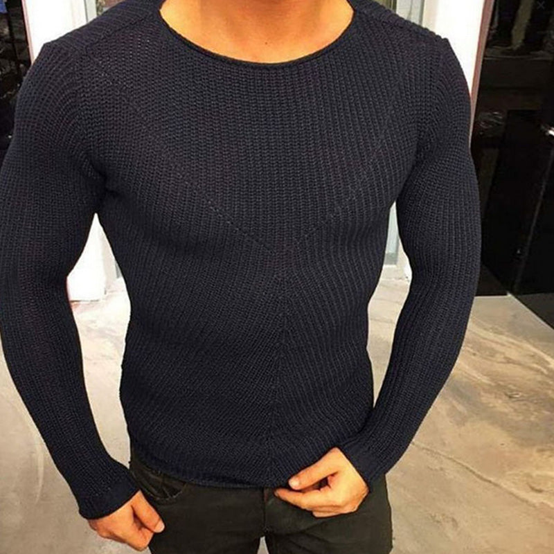 Men's Fashion Solid Pullovers V-Neck Casual Tops T-shirt