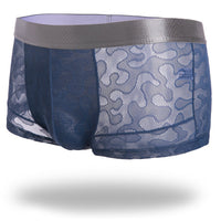 Men's Ice Silk Sexy Breathable Boxer Briefs