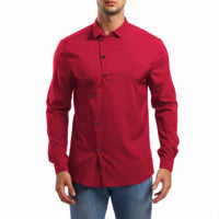 Men's Solid Color Casual Long Sleeve Shirt