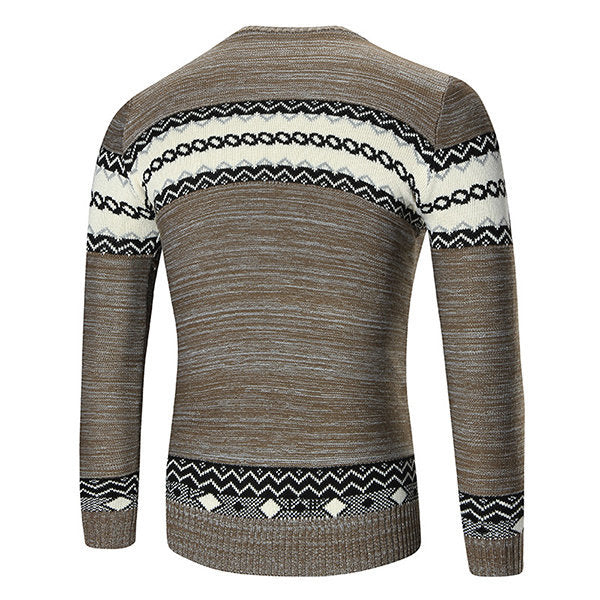 Casual Crew Neck Long Sleeve Pullovers Sweaters