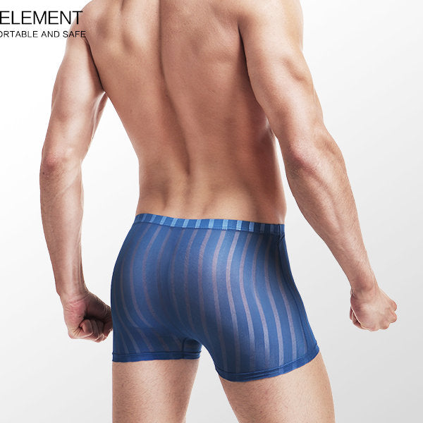 Ice Silk Transparent Thin Breathable Seamless Men's Boxer Briefs