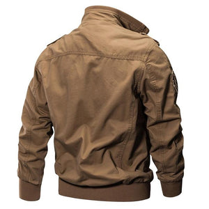 Plus Size Outdoor Tactical Military Washed Cotton Men's Jacket