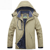 Men's Cashmere Thick Warm Outdoor Windproof Coats