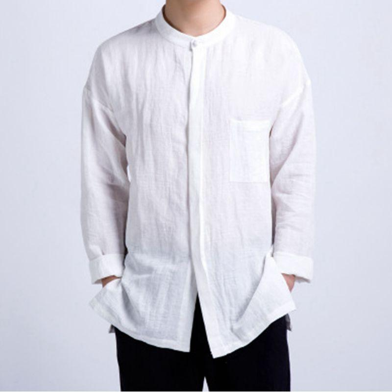 Plus Size Men's Casual Cotton Check Pockets Shirt