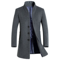 Winter Medium Long Slim Wool Coat