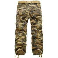 Men's Outdoor Casual Multi-Pocket Camouflage Cargo Pants