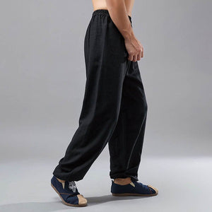 Men's Casual Loose Linen Pants