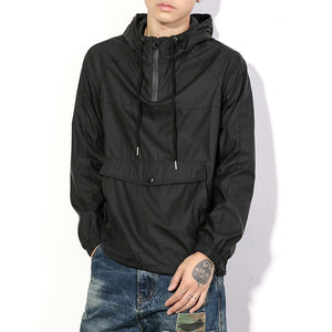 Men's Casual Hoodies Loose Black Pullovers Tops