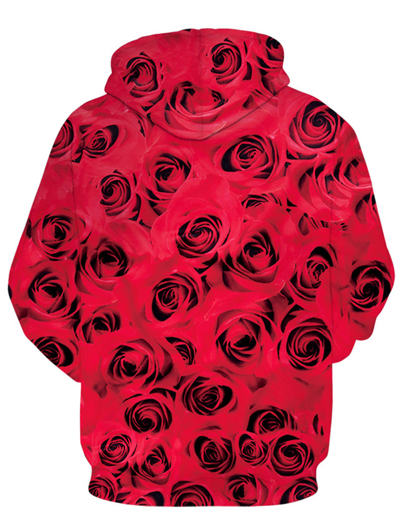 Sexy Marilyn Monroe With Red Rose 3D Printed Sweatshirt