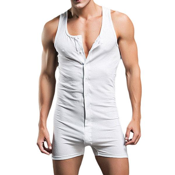 Pure Cotton One Piece Siamese Vest Home Body Sculpting Pajamas