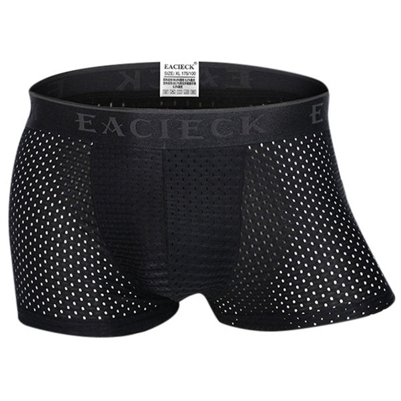 Men's Breathable Ice Silk Mesh Boxer Briefs
