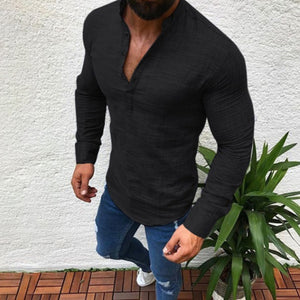 Men's Breathable Comfort Casual Linen T-shirt