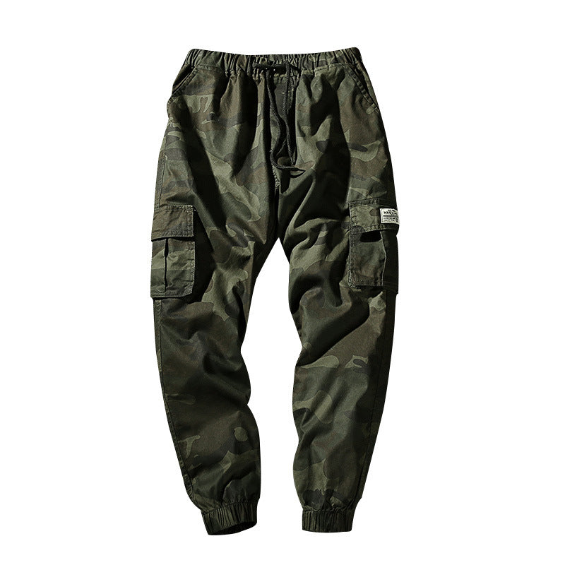 Large Size M-7XL Men Camouflage Beam Feet Nine Pants