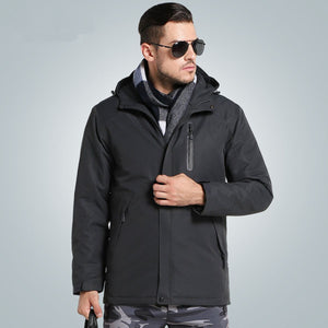 USB Intelligent Heating Cotton Jackets Outdoor Waterproof Windbreaker Hiking Camping Trekking Climbing Skiing Coats
