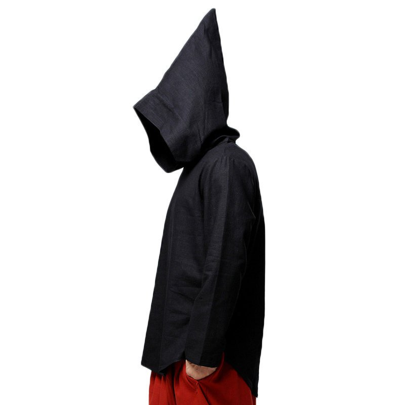 Plus Size S-5XL Men's Loose Casual Pointed Hoodies