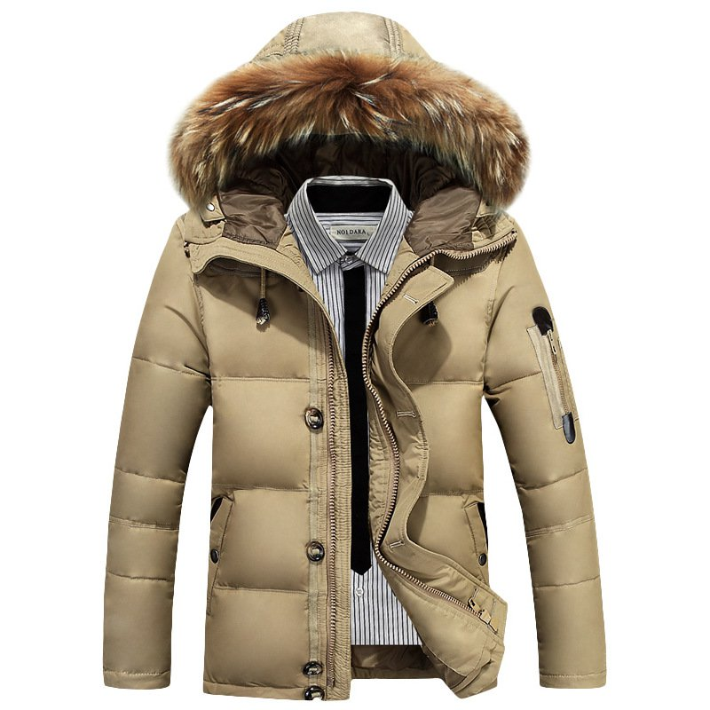 Men's Outdoor Thicken Warm Hooded Down Coat