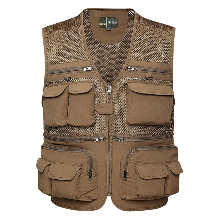 Outdoor Men's Multi-pocket Mesh Vest