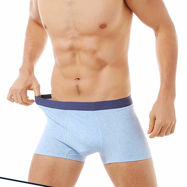 ZK Large Size Men's Soft Cotton Antibacterial Seamless Boxer Briefs