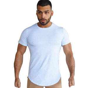 Men's Fitness Breathable Quick-drying Elastic Solid Color T-Shirt