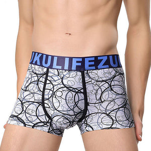 ZK Men's Ice Silk Panties Sexy 3D Breathable Boxer Briefs
