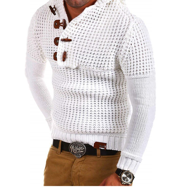 Angora-Blend Men's Knitting Pullovers Sweaters