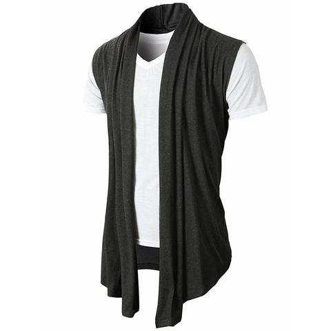 Men's Casual Sleeveless Solid Color Cardigan