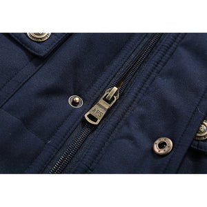 Men's Outdoor Warm Thick Fleece Multi Function Pockets Vestcoat