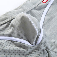 Men's Mesh Breathable Low Rise U Shaped Boxers Briefs