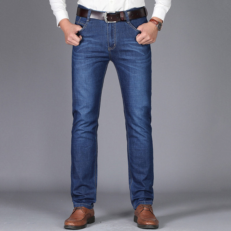 Denim Straight Leg Jeans
