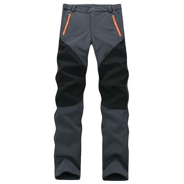 Men's Outdoor Quick-dry Soft Shell Vivid Color Water-repellent Trousers