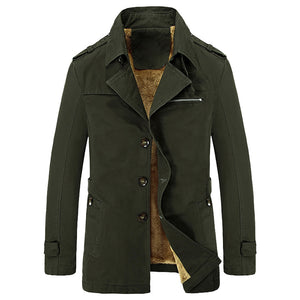 Velvet Plus Thick Warm Military Style Outdoor Jacket