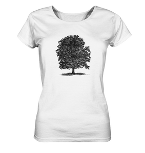 Alte Buche - Schattenbild Baum - Botanik Illustration - Ladies Organic Shirt