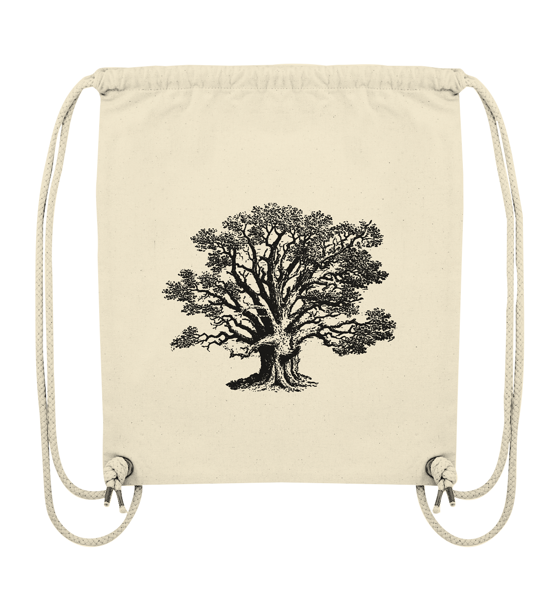 Alte Eiche - Quercus robur - Botanik Illustration - Organic Gym-Bag