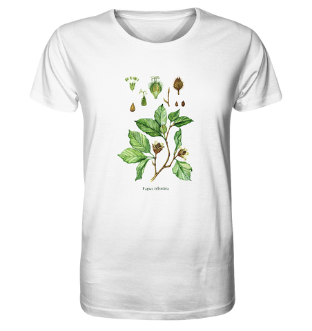 Rotbuche - Fagus sylvatica - Wasserfarben Illustration  - Organic Shirt