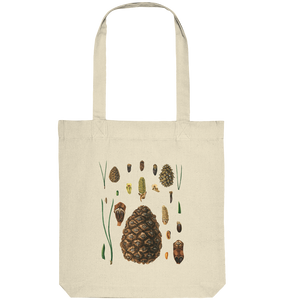 Kiefer - Botanik Illustration - Pinus sp. - Organic Tote-Bag