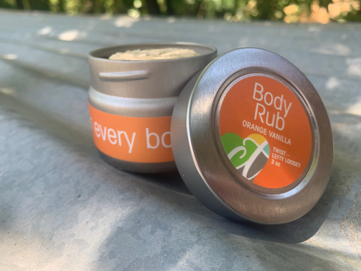 Body Rub - Orange Vanilla - 3 oz