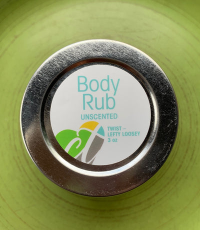 Unscented Body Rub - 3 oz