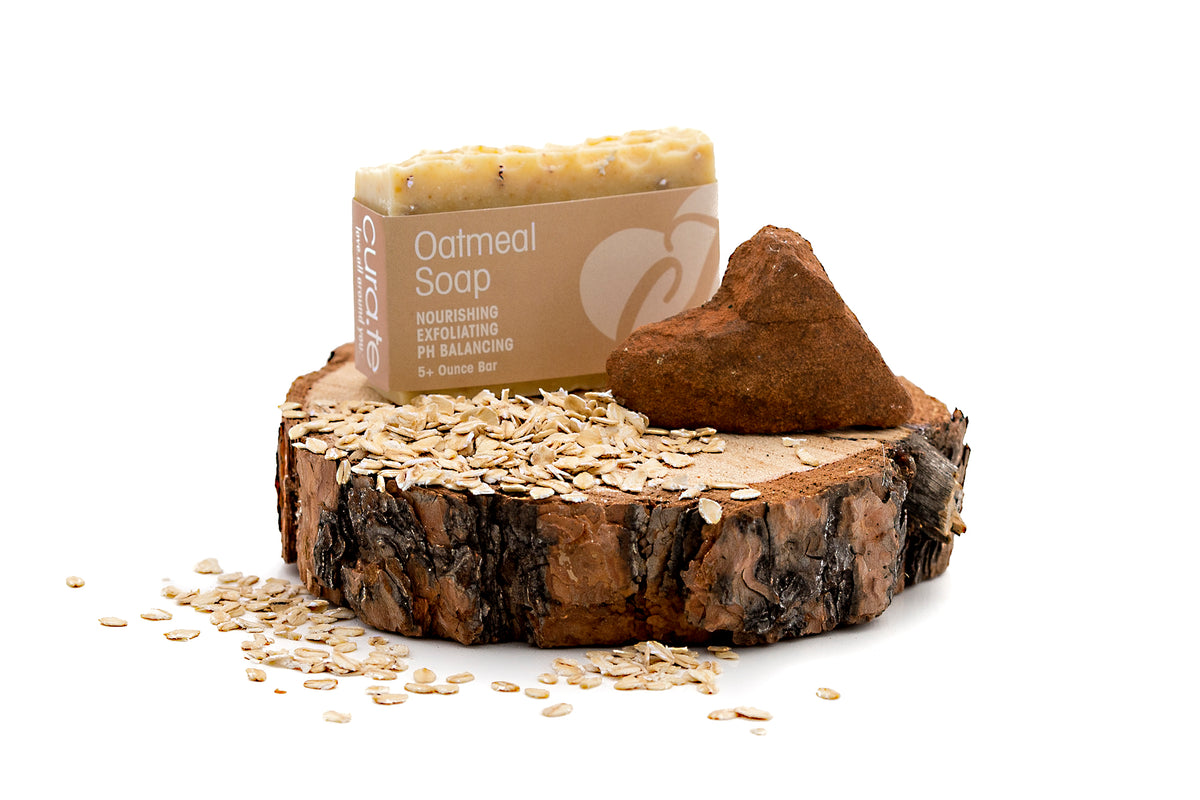 Organic Bar Soap Oatmeal 5+ oz bar with label band