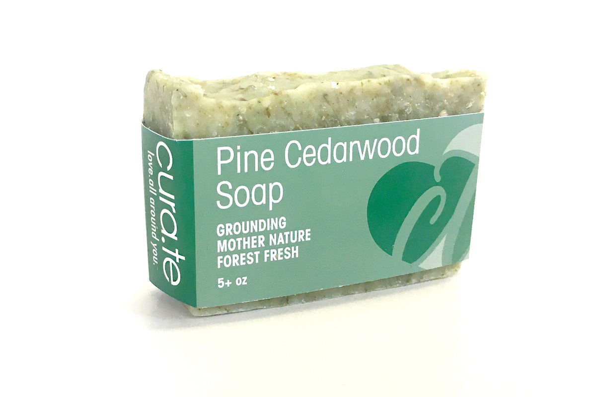 Organic Bar Soap Pine Cedarwood 5+ oz bar with label band