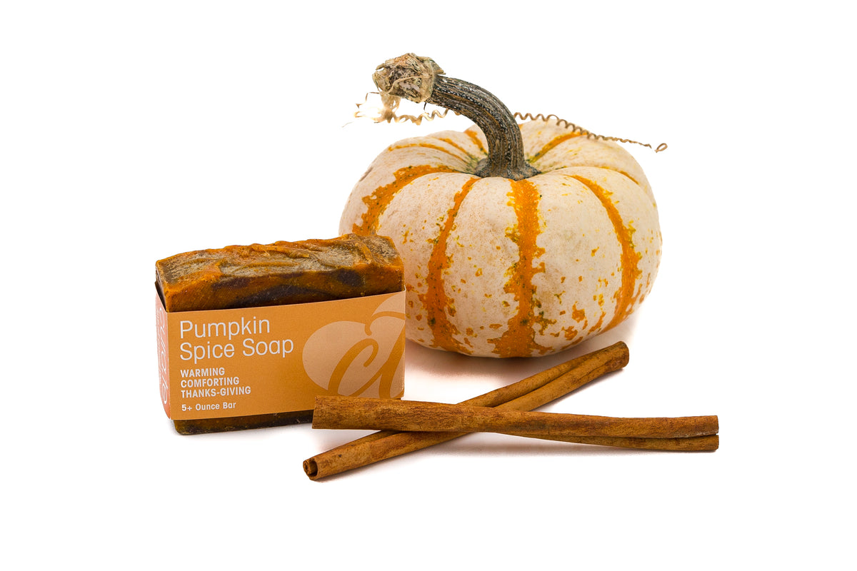 Organic Bar Soap Seasonal Pumpkin 5+ oz bar with label band