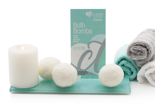 Box of Organic Bath Bombs by Cura.Te Organics 3 Pack