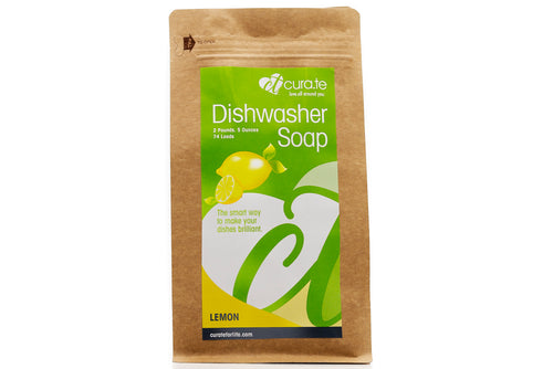 Organic Dishwasher Soap Lemon by Cura.Te Organics in 2lbs 5oz Bag