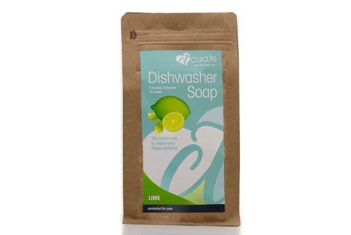Organic Dishwasher Soap Lime by Cura.Te Organics in 2lbs 5oz Bag